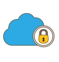Cloud storage icon image vector