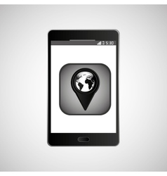 icon smartphone gps map location design vector image vector image