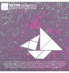 Tangram ship vector image vector image