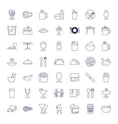 49 restaurant icons vector