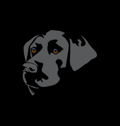 a dog head design vector image