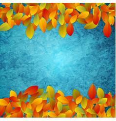 abstract background autumn leaves on grunge vector image
