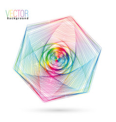 Abstract colorful wireframe vector