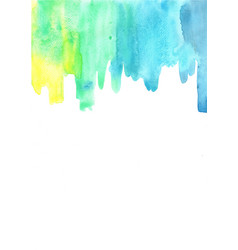 abstract yellow blue and green watercolor vector image