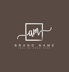 Am initial signature logo handwritten logo vector