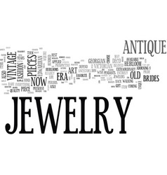 Antique jewelry wholesale text word cloud concept vector