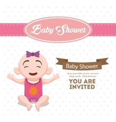 Baby shower invitation card design vector image