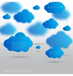 Background abstract blue cloud vector