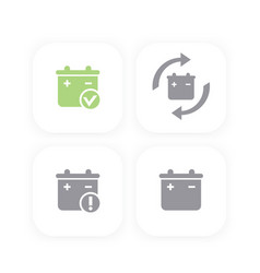 battery icons replacement warning signs vector image