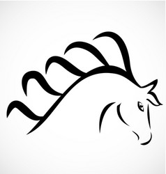 beautiful horse logo vector image