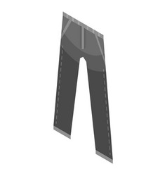 Black jeans pant icon isometric style vector
