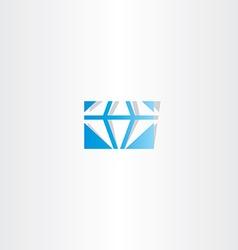 blue diamond logo icon sign vector image