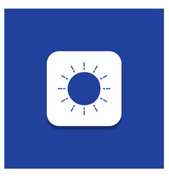 blue round button for sun weather sunset sunrise vector image