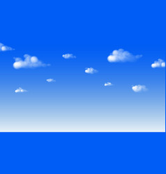 Blue sky and cloud draw fresh day background vector