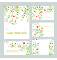 Branding design with floral pattern vector
