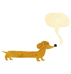 cartoon dachshund with speech bubble vector image