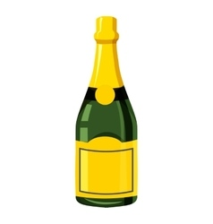 Champagne bottle icon isometric 3d style vector image