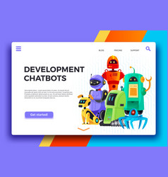 chatbots development digital chatbot assistant vector image