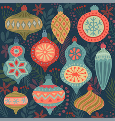 christmas ornament pattern - hand drawn vector image