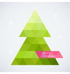 Christmas tree triangle background card vector