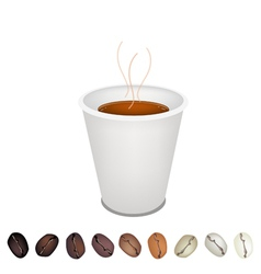 Coffee Mug and beans vector image