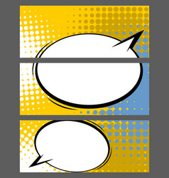Comic balloon horizontal color blank banner vector