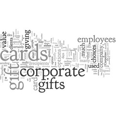corporate gift card vector image