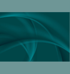 Dark turquoise smooth soft wavy background vector