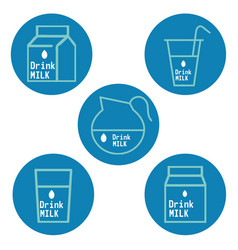 Drink milk labels vector