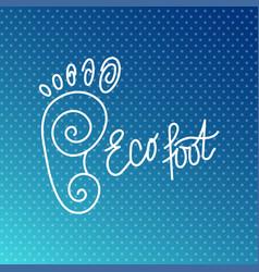Eco foot health center logo orthopedic salon vector