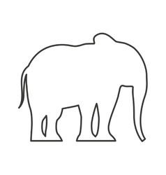 elephant silhouette isolated icon vector image