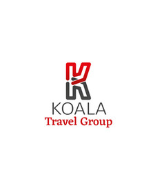 emblem for koala travel group vector image