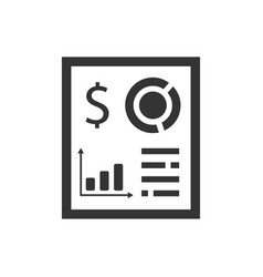 financial report icon vector image