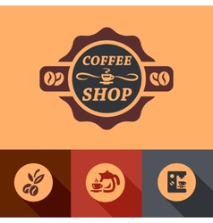Flat coffee design vector