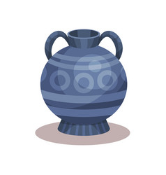 Flat icon of antique amphora with vector