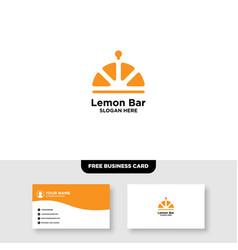 Fresh juice bar logo and business card template vector
