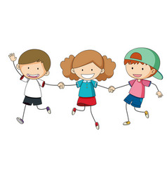 Group friend on white background vector