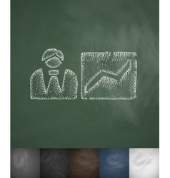 Growth prospect icon Hand drawn vector