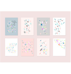hand drawn abstract pastel bashower card with vector image