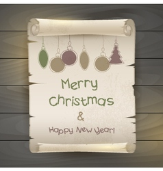 Happy New Year and Merry Christmas vector