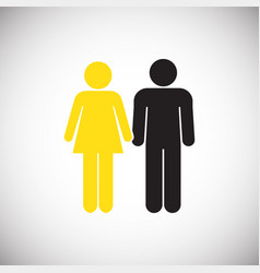 interracial relationship family on white vector image