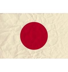 japan paper flag vector image
