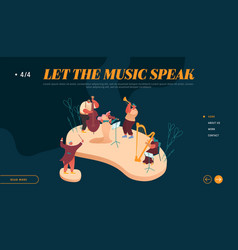 Landing page symphony orchestra playing vector