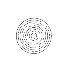 lines in circle form futuristic circle isolated vector image
