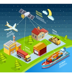 Logistic Network Template vector