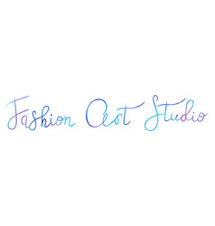 Logo fashion studio custom handmade calligraphy vector