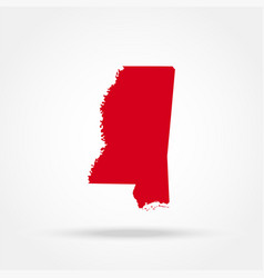 Map of the us state of mississippi vector