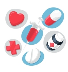 Medical Theme Icons Set vector image