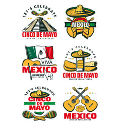 Mexican holiday symbol for cinco de mayo party vector