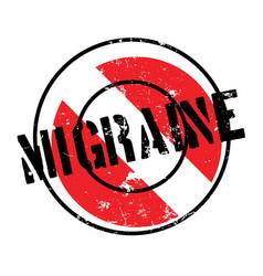 Migraine rubber stamp vector